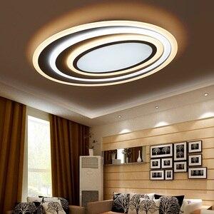 Постмодерн акриловый художественный гофрированный светодиодный потолочный светильник для гостиной, спальни, Овальный ультра тонкий потол...