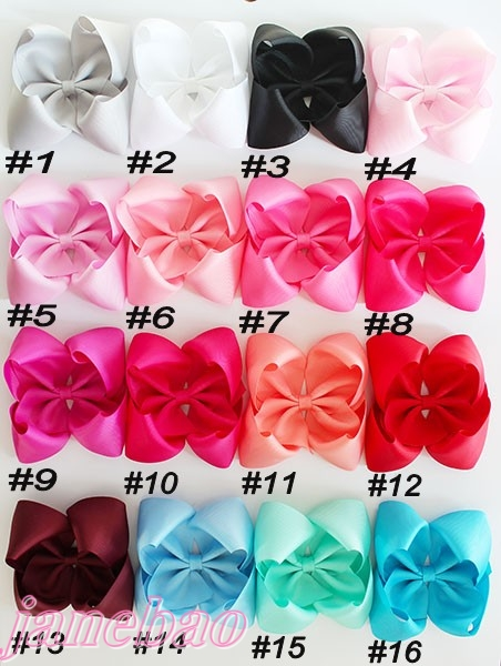 free shipping 2017 Newests 500pcs 5 5 6 ABC hair bows Boutique hair bows solid big
