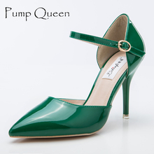 Brand Shoes Woman High Heels Pumps 9CM Women Shoes Elegant Wedding Shoes Pumps Green Nude Shoes Heels Zapatos Mujer