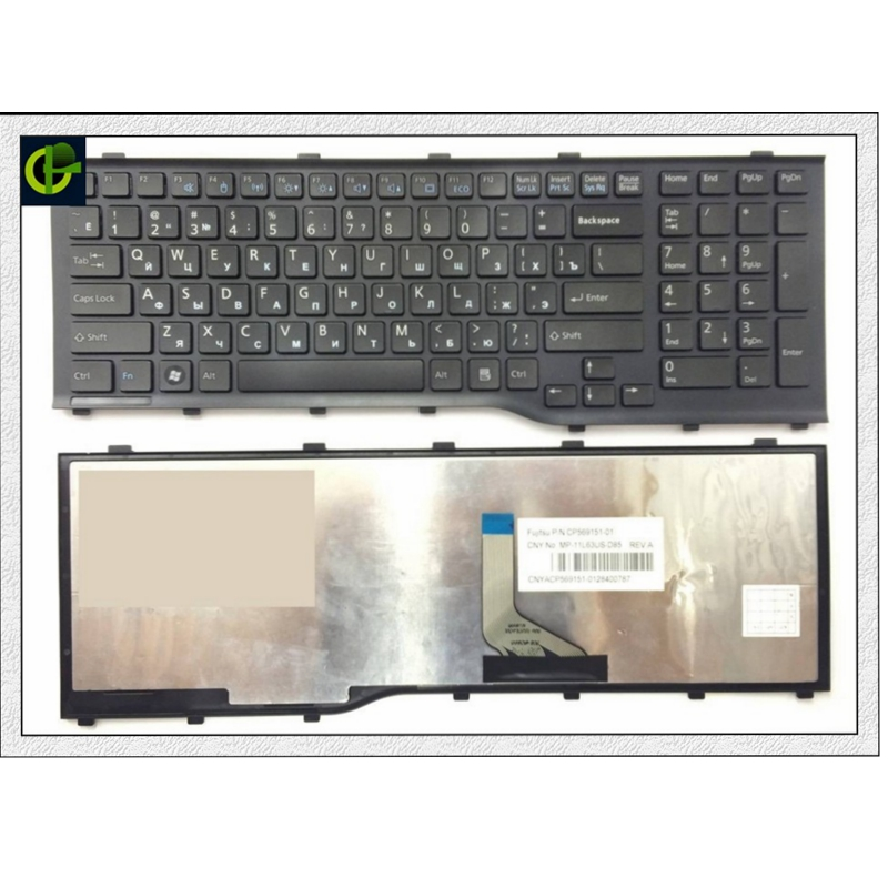 New RU Russian Keyboard For Fujitsu Lifebook AH532 A532 N532 NH532 Black With Frame Laptop Keyboard MP-11L63SU-D85 CP569151-01