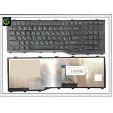 New RU Russian Keyboard For Fujitsu Lifebook AH532 A532 N532 NH532 Black With Frame Laptop Keyboard MP 11L63SU D85 CP569151 01