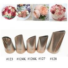 5 Pcs Rose Petal Metal Cream Tips Cake Decorating Tools Steel Icing Piping Nozzles Set Cake Cream Decorating Cupcake Pastry Tool