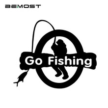 BEMOST Auto Accessories Styling Go Fishing Car Decals Outdoor Sports Enthusiasts Decals Car Window Body Reflective Stickers(China)
