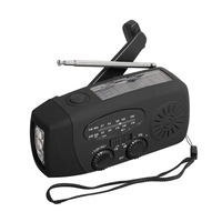 3 Band Multi Functional Solar Weather Radios Solar Hand Crank Self Powered AM FM Weather Radio