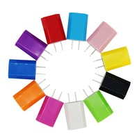 Hot Colorful Travel Wall Charge Charger Power Adapter European EU USA Plug USB AC Charger For Apple iPhone 6 5 5S 4 4S 3GS iPod