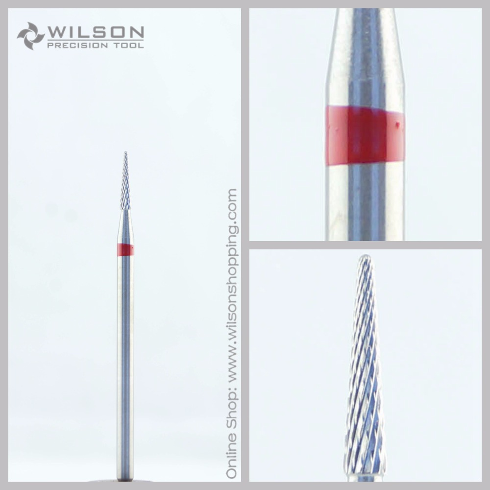 Cross Cut - Fine(5000207) - ISO 140 - Tungsten Carbide Burs - WILSON Carbide Nail Drill Bit&Dental Burs