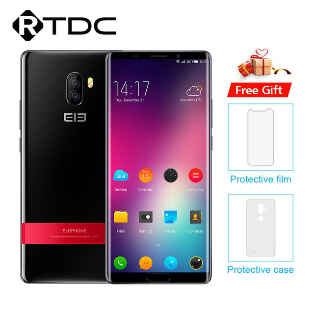 Elephone P11 3D MT6797T Deca Core Smartphone FHD+ 6.0'' Android 8.0 4GB RAM 64GB ROM 16MP 3200mAh FingerprintOTG 4G Mobile Phone