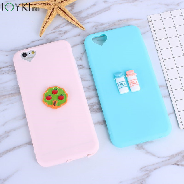 Cute 3D Coffee Cup Cake TPU case for iphone 7 7Plus Candy color soft silicon case For iphone 6 6S 5S SE 5 Coque back cover