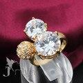Top diseño de lujo plateado oro swiss diamond CZ anillos de boda de joyería de moda bonito regalo lindo Jmiya marca