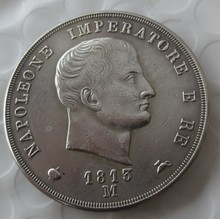 ITALIAN STATES, KINGDOM OF NAPOLEON, Napoleon I, 5 Lire, 1813-M Copy Coin(China)