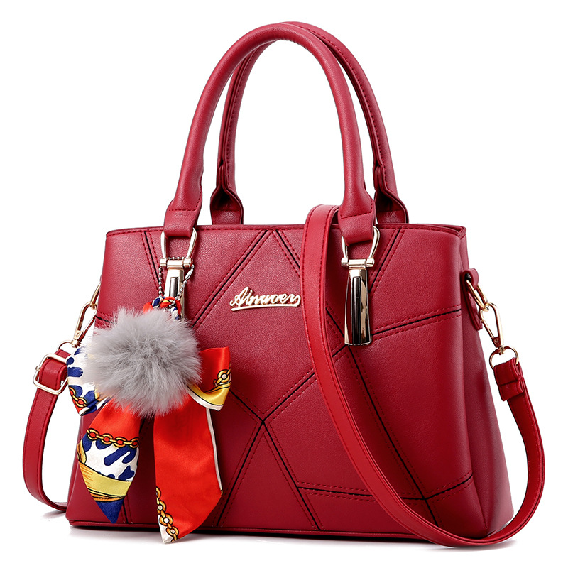 2018 Women Casual Handbag Female Simple Style Bowknot Design Zipper Shoulder Bags Lady Fashion Trend Shopping Tote Messenger Bag sweet women s tote bag with metallic and bowknot design