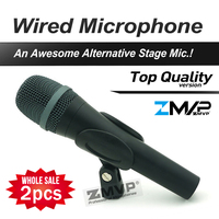 Free Shipping 2pcs Top Quality 945 Professional Karaoke Dynamic Super Cardioid Vocal Wired Microphone Microfone Microfono