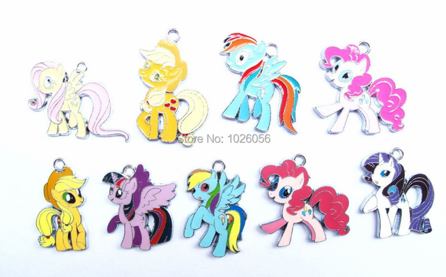 Free shipping lot 20 pcs multicolor mixed my little pony charms free shipping lot 20 pcs multicolor mixed my little pony charms earrings pendants diy jewelry making mozeypictures Images