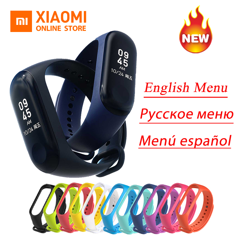 Global Version Xiaomi Mi Band 3 Miband 3 Instant Message CallerID Waterproof OLED Touch Screen Weather Forecast Mi Band 2 Up xiaomi mi 8 aliexpress