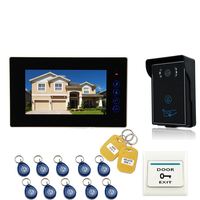 JEX NEW 7`` LCD TOUCH KEY Video Doorbell Intercom Entry Door Phone System 700TVL Touch Key Waterproof RFID Access Camera