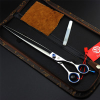10.0 Inch Purple Dragon Pet Grooming Scissors High Quality Pet Straight Scissors Dog Puppy Hair Cutting Shears Tools With Case