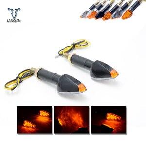 Image 2 - Universel LED moto LED Flexible clignotants indicateurs/lampe pour ktm 690 smc/690 smc r/690 duke/duke 690 r