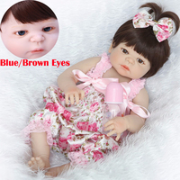 2357cm Full Silicone bebe alive Reborn silicone realistic dolls american doll Lifelike princess bebe Children Best Gifts doll
