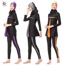 Дамы Полное Покрытие Арабская Ислам Мусульманские Купальники Исламские Женщин Купальники Пляж Носить Длинные Скромные Исламские Хиджаб Плавание Burkinis