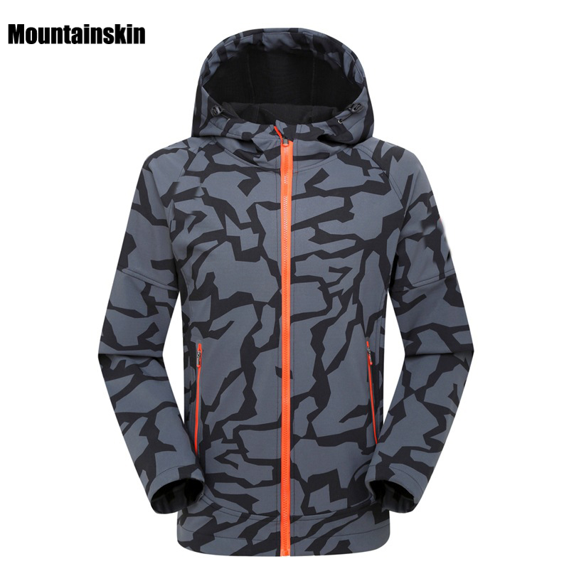 2018 Men's Winter Autumn Softshell Jacket Outdoor Sports Waterproof Mountainskin Coat Hiking Trekking Camping Male Jackets VA073