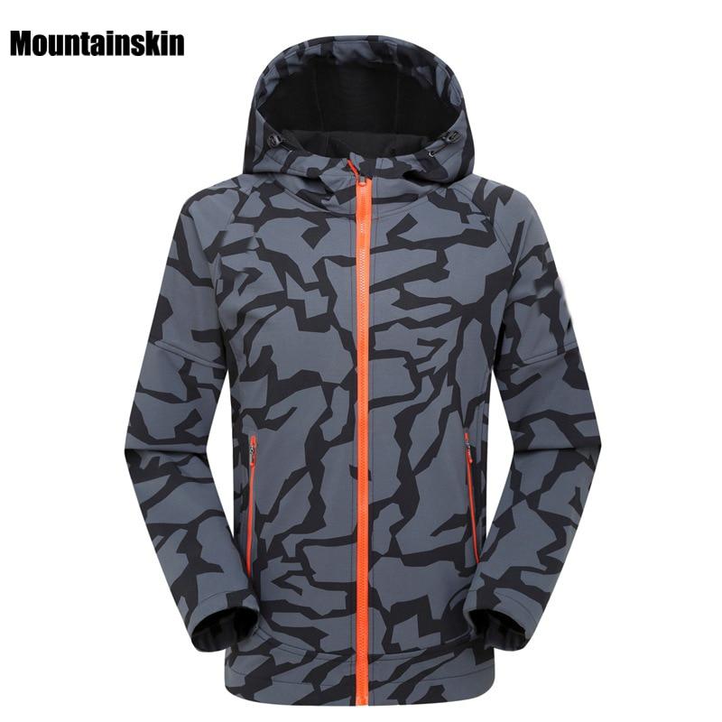 2017 Men's Winter Autumn Softshell Jacket Outdoor Sports Waterproof Mountainskin Coat Hiking Trekking Camping Male Jackets VA073