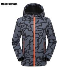 2018 Для Мужчин's зима-осень флисовая куртка Спорт на открытом воздухе Водонепроницаемый Mountainskin пальто Пеший Туризм походы кемпинг мужской куртки VA073