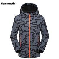 2020 erkek kış sonbahar Softshell ceket açık spor su geçirmez Mountainskin ceket yürüyüş Trekking kamp erkek ceketler VA073 Yürüyüş Montları Spor ve Eğlence -