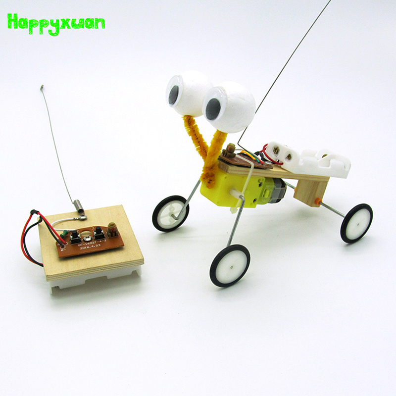 Happyxuan DIY Children Science Experiment Toy Remote Control Robot Reptile Model Kit Electric Invention Kid Creative Educational