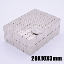 20Pcs 20x10x3mm Neodymium Magnet Super Powerful Block Permanent N35 NdFeB Strong Cuboid Magnetic Magnets 20mmx10mmx3mm
