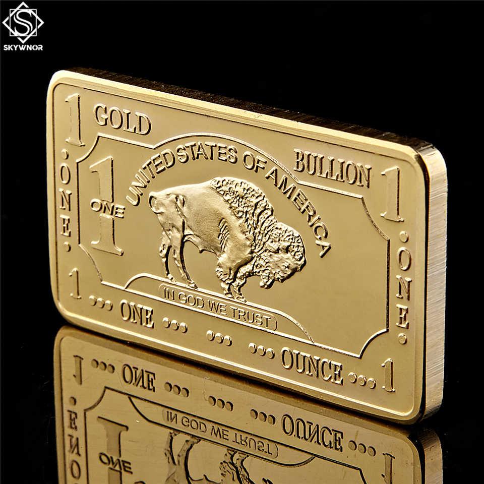 Gold Plated Bullion Beauty Bar United