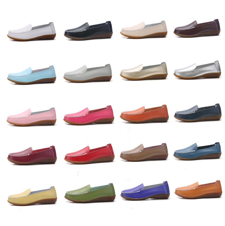 XY 518-2019 Genuine Leather Women's Shoes Soft Woman Loafers-1