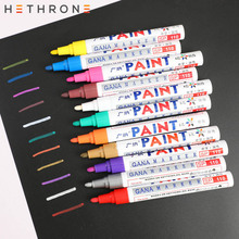 Hethrone Waterproof Oily permanent marker pen paint sharpie Markers Pen 1pcs colorful Kids Cloths Graffiti Painting drawing pen 1pcs colorful diy metal waterproof permanent paint marker pens graffti oily sharpie drawing manga school supplies wholesale