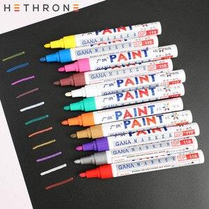 Hethrone Waterproof Oily permanent marker pen paint sharpie Markers Pen 1pcs colorful Kids Cloths Graffiti Painting drawing pen
