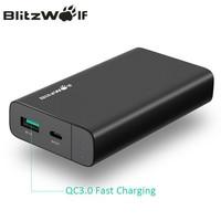 BlitzWolf 10000mAh Power Bank 18W QC3 0 Type C Powerbank Dual USB Charger External Battery Pack