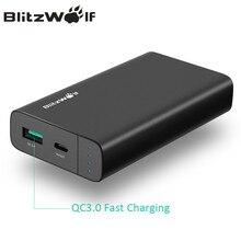 Blitzwolf 10000 мАч Запасные Аккумуляторы для телефонов 18 Вт qc3.0 Тип-C Мощность Bank Dual USB Зарядное устройство Комплекты внешних аккумуляторов быстрой зарядки для iPhone X 8 7 6