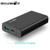 BlitzWolf 10000mAh Power Bank 18W QC3 0 Type C Powerbank Dual USB Charger External Battery Pack