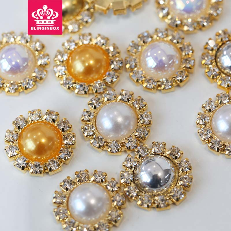 Arts,crafts & Sewing Home & Garden 15mm 20pcs All Colors New Arrival Dome/half Round Gold Crystal Claw Abs Half Round Pearl Stones Buttons For Diy Hairpins E7009 We Take Customers As Our Gods
