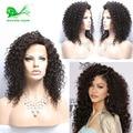 Afro Rizado Rizado Sin Cola Peluca Llena Del Cordón Pelucas de Pelo Humano Para Las Mujeres negras 7A Brasileña Del Frente Del Cordón Corto Bob Pelucas Del Pelo Humano pelucas
