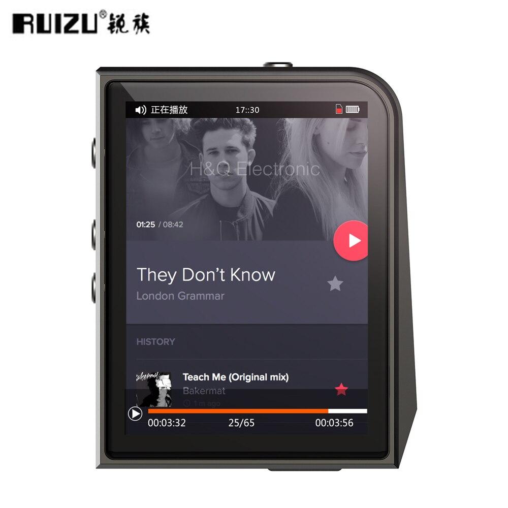 Nouveau RUIZU A50 DAP HD Mini lecteur MP3 Sport sans perte avec écran 2.5 pouces HIFI lecteur de musique MP3 Support 128G TF carte/DSD256
