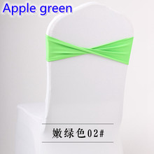 Colour Apple Green spandex sashes lycra sash for chair cover spandex bands bow tie For Wedding Decoration banquet design on sale(China)