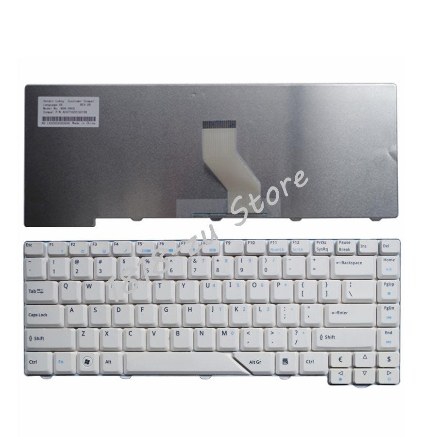 YALUZU US White New English Laptop Keyboard For Acer 4730 4730Z ZO1 1641 5315 5930G 4220 6935G 4930G TM520 6920 6935 7300 Z03