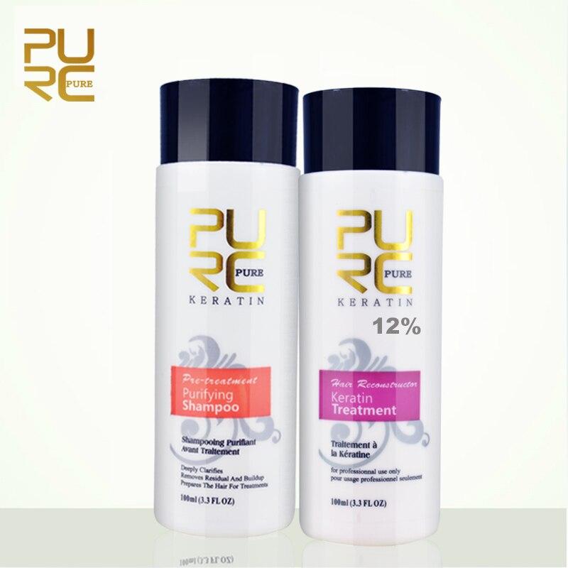 Reproductores 12% formol tratamiento de queratina del cabello y purificante champú productos de cuidado del cabello 2018 brasileño queratina envío gratis