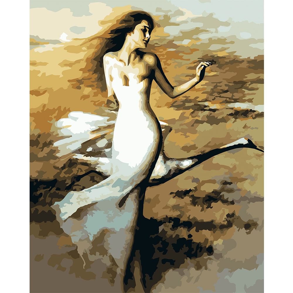 Diy Oil Painting By Numbers Swan Dancer Sexy Woman Wall Mural Picture  Modern Wall Art Decoration