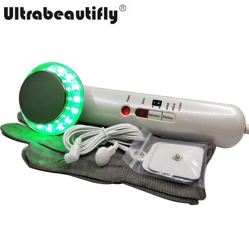 Galvanic Ultrasonic Liposuction Fat Burn Stretch Mark Acne Wrinkle Cellulite Removal Weight Loss Body Slimming Massager