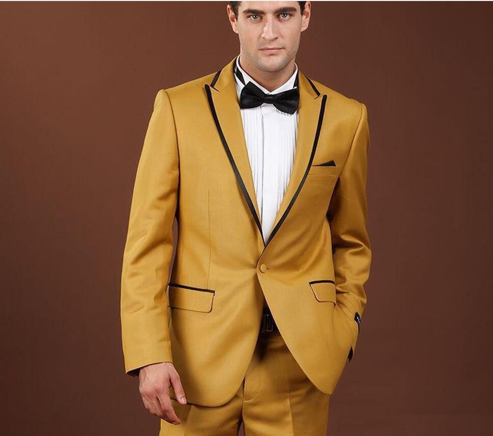 Männer Anzug Kleid Braun Sanfte Formale Hochzeit Anzug SMOKING ...