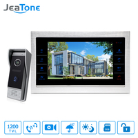JeaTone 10 TFT Wired Door Phone Doorbell Intercom Monitor 2 8MM Lens 1200TVL Camera 1V1 Kit