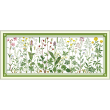 Joy Sunday Flowers on the meadow  Chinese cross stitch kits Ecological cotton clear stamped printed 11CT DIY wedding decoration