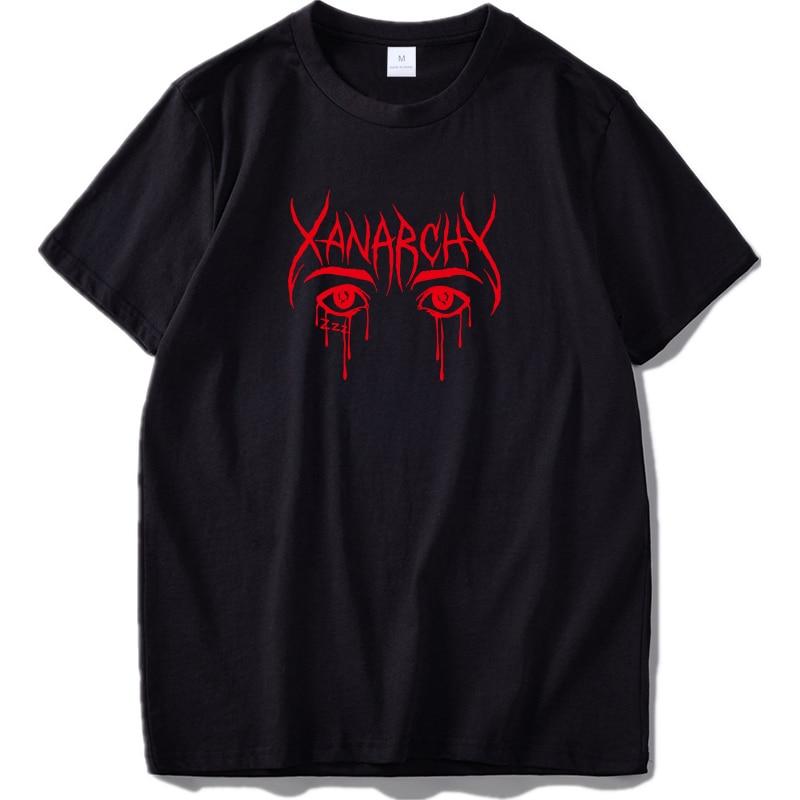 Hip Hop Lil Xan T Shirt Fashion Casual Manica Corta T-Shirt in cotone Bianco Nero Freddo di Estate Tee Drop Ship US formato