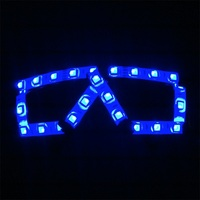 Wecool factory direct super bright led glasses free shipping led rave glasses glow in dark for Event and Party Supplies