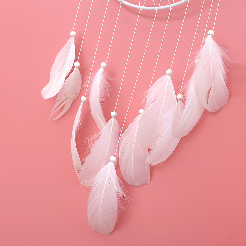 Feather Crafts Dream Catcher Dream catcher Handmade Indian Wind Bells Net for Hanging Wall Home Decor Car Decoration in Figurines Miniatures from Home Garden